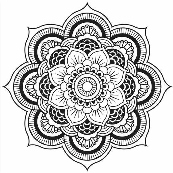 Originelle Mandala Form - Eine hübsche Blume