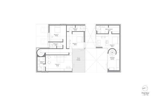 Ordos 100 43 Tatiana Bilbao First Floor Plan Architecture House China Design Floor Plans