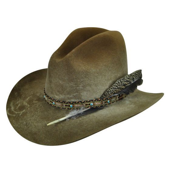 2 Western COWBOY HAT  painted layered shapes
