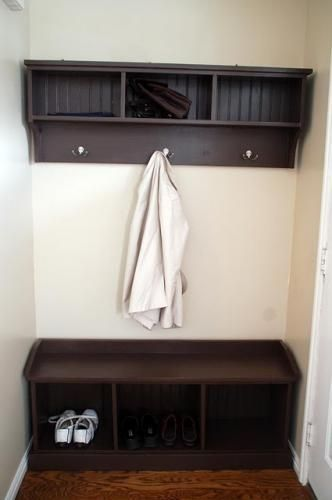 Foyer Storage Shelves : Benches entryway shelf and on pinterest