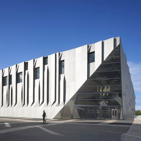 Kengo Kuma's Aix en Provence Conservatory of Music boasts pleated aluminium walls
