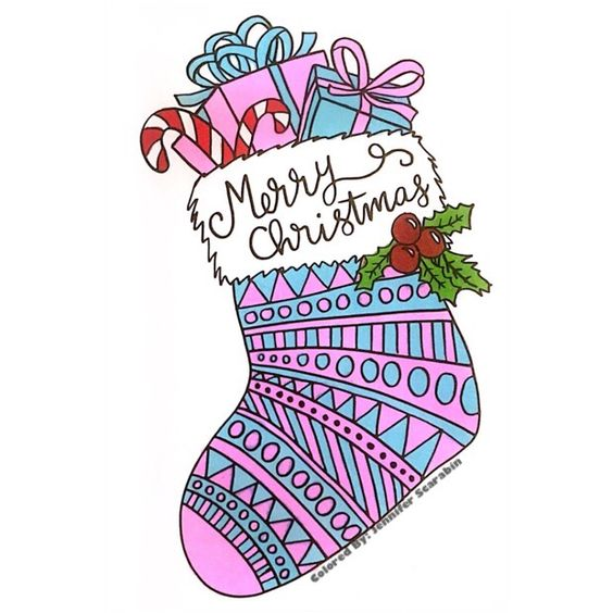 Dedicated to some special people in my life.❤️❤️❤️ 30 Pages in 30 Days Day 16 Artist: Sarah Clark Book: Coloring Christmas (Pocket Edition) #sarahrenaeclark #coloringchristmas #pocketedition
