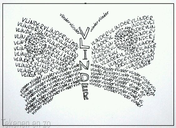 Een slang? Een vlinder? Kies een dier en schrijf het in vorm met woorden, zinnen of een verhaal