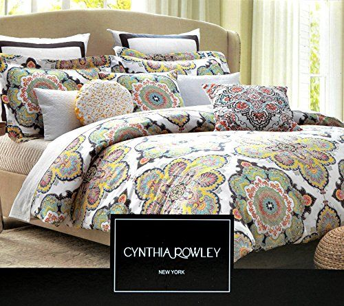 Duvet covers york and blue green on pinterest for Cynthia rowley bedding