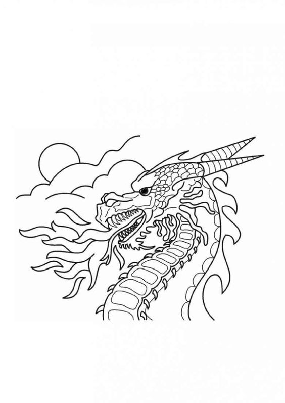 Drachen 16 Ausmalbilder