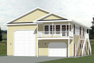 Details About 40x42 Apartment With 2 Car 1 Rv Garage Pdf Floorplan 1 153 Sqft Model 1c With Images Building Plans House Garage Apartment Plans Cottage Plan