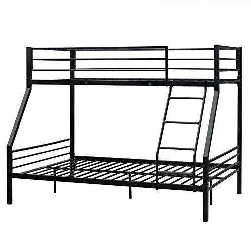 Best Seller Steel Bunk Bed Twin Over Full Julyfox Bed Frame 580 Lb
