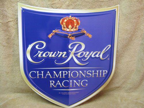 Crown Royal Shield Tin Metal Sign Decor Bar | Crown