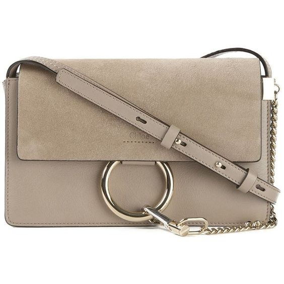 chloe bag price - Chloe Faye Small Grey Suede & Leather Cross-Body Bag ($1,690 ...
