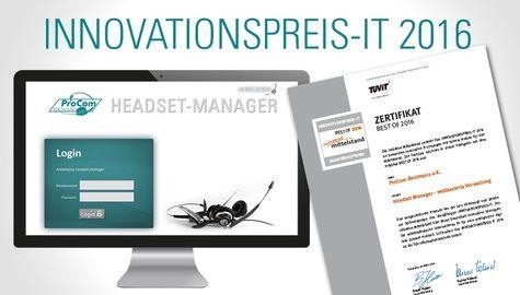 Best of 2016 Headset-Manager von ProCom-Bestmann