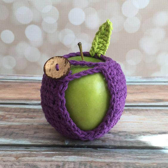 Apple Jacket - Hand Crocheted Purple