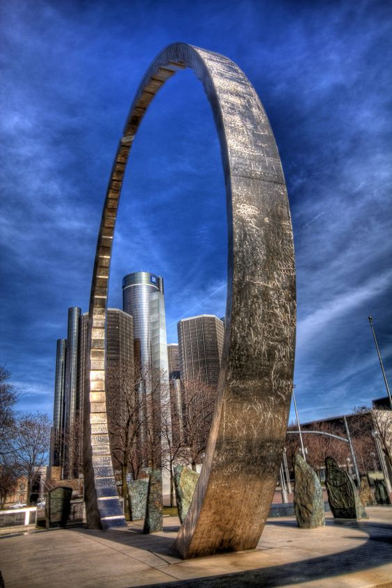 Michigan Labor Legacy Landmark - Hart Plaza - Detroit: