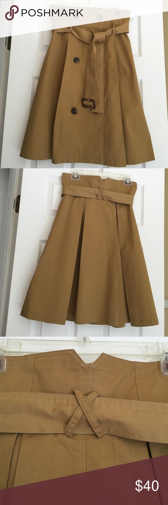 "Trench Inspired Skirt Trench Inspired Khaki Style Skirt. Length 26"". Skirts"