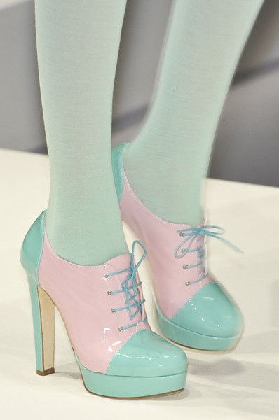 Weird but quirky pastel coloured shoes