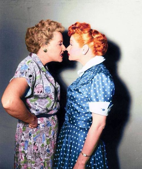Vivian Vance and Lucille Ball in 'I Love Lucy'.