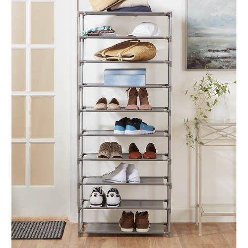 Home Basics 30 Pair Shoe Organizer Organization Shoe Organizer Shoe Rack