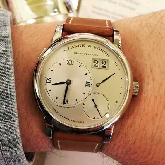 Pro tip: when @hodinkee hands you their original @alangesoehne One, don't ever ever give it back.