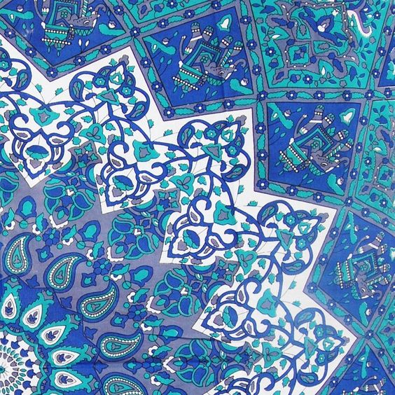 Ocean Blues Bohemian Tapestry Boho Decor Bedding Indian Mandala Tapestry Wall Hanging Or Table Clothe - Free Shipping