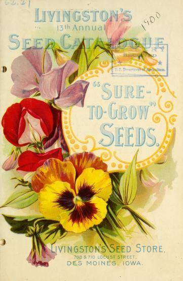 1900 - Livingston's 13th annual seed catalogue, front cover.