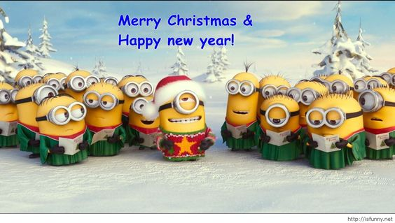 Wallpaper minions Happy new year funny 2015: