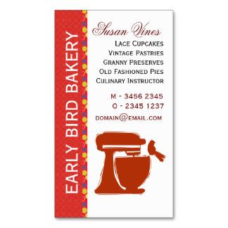 Early Bird Bakery Pastry Chef Double-Sided Standard Business Cards (Pack Of 100)