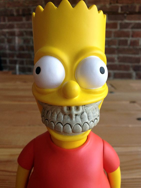 Bart Grin, A Grinning Bart Simpson Vinyl Art Toy by Ron English