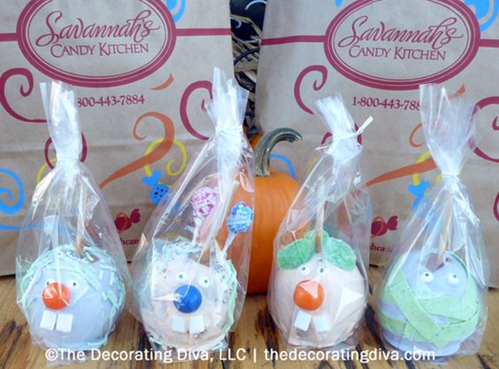 """""""Scary"""" Candied Apples for Halloween Parties.  Sweet Fall Trip: Savannah's Candy Kitchen 