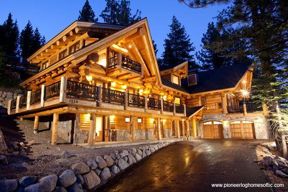 Lakes decks and logs on pinterest for Cabin rentals near ski apache