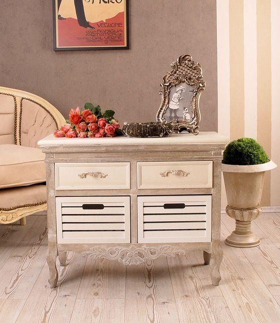 rustikale kommode im antik look shabby chic nostalgie furniture decoration pinterest. Black Bedroom Furniture Sets. Home Design Ideas
