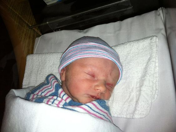 My grand nephew Paxton Laine born 01/11/12, just a day after my birthday.