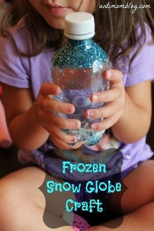 Frozen Inspired Snow Globe Craft For Kids