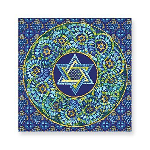 Mosaic Star of David Luncheon Paper Napkins