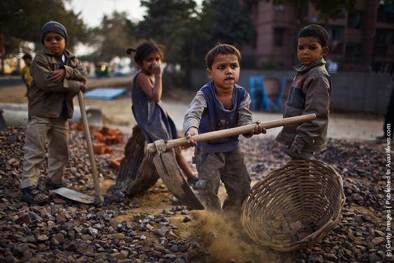 """CHILD LABOR. This is the republican dream for America's poor children. Keep voting in the """"personal responsibility"""" assholes, and this will happen here. Job protections, even fundamental laws prohibiting child labor, are under constant threat by the party for the rich."""