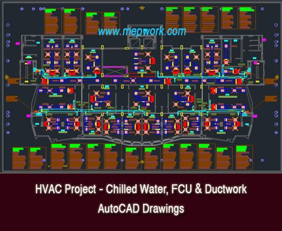Hvac Project Chilled Water Fcu Autocad Drawings Hvac Design Hvac Fan Coil Unit