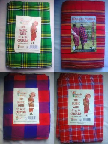Bed linen-African bedcover-4 sets of  Masai/Maasai shuka(blankets)-FREE SHIPPING