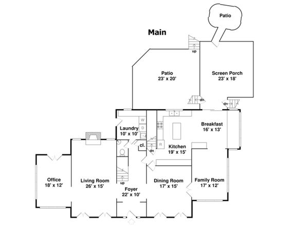 """floor plan for the """"Home Alone"""" house house plans"""