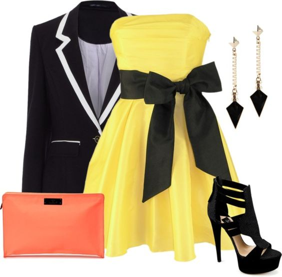 """Yellow Dress !"" by milskor ❤ liked on Polyvore"