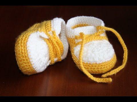 Jak Zrobic Trampki Buciki Na Szydelku 0 6 Miesiecy 9 Cm Baby Shoes Crochet Baby Baby Hats