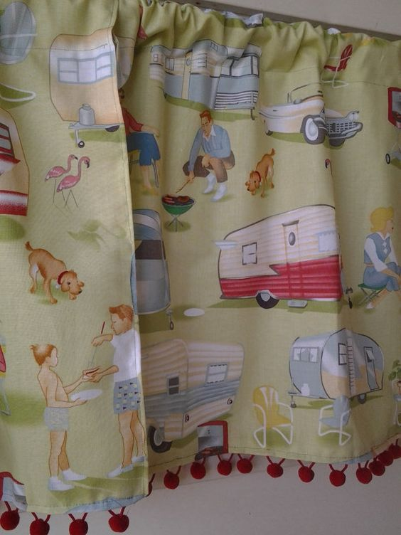 Travel Trailer Curtains (for Door In Boysu0027 Bunk Room)