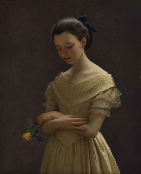 The Yellow Dress - John Bulloch Souter: