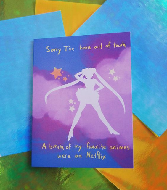 Magical Girl Missin You card by GiantTalk on Etsy, $4.00