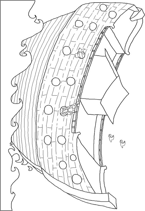 Cute Noahs Ark Coloring Page Other Pages Sketch Coloring Page