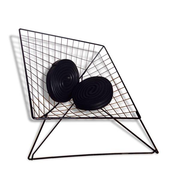 Deux fauteuils Oti de Niels Gammelgaard 1980 style Bertoia Knoll
