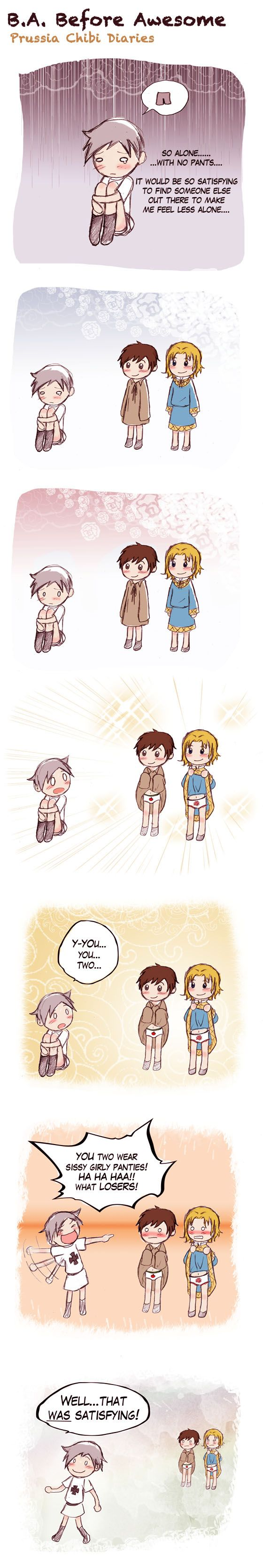 Chibi Prussia 10! The Bad Touch Trio......one must be patient when dealing with such Awesomeness!
