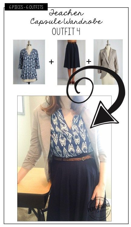 Capsule Wardrobe: Teacher Fashion! Simplify your mornings with 6 pieces that make 6 cute outfits. Here is outfit #4! Comfy and cute!