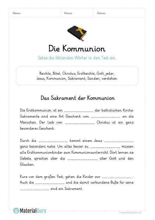 Kommunion Kommunion Erstkommunion Beichte