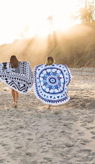 plážové štýlové osušky