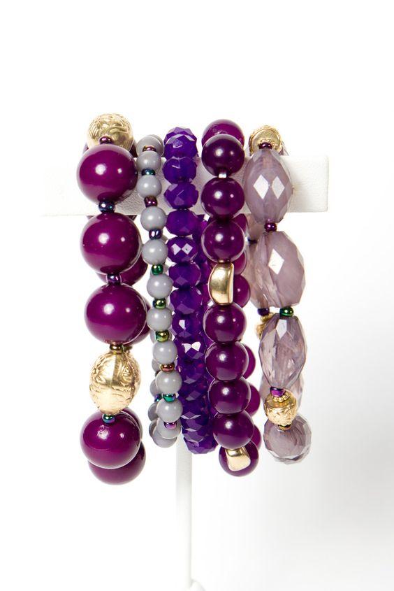 plum passion bracelet set