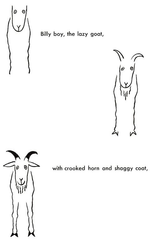 how to draw a goat head easy