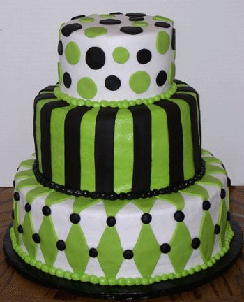 White And Green And Black And Tasty I Love This Cake I